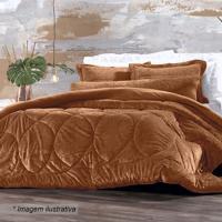 1693d466b2 Edredom Blend Elegance Arabesco Solteiro- Marrom Claro