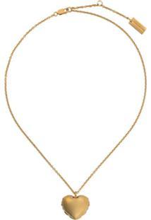 Marc Jacobs Colar Com Pingente Balloon Hear - Dourado