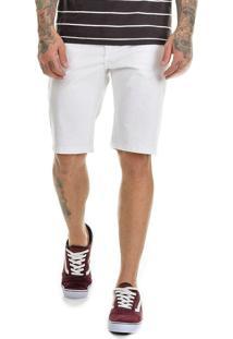Bermuda Offert Jeans Premium Slim Fit Com Lycra Branca