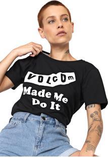 Camiseta Volcom Darting Traffic Preta