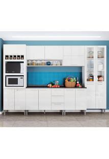 Cozinha Rafaela 0423T 15 Portas C/ Tampo – Genialflex - Branco