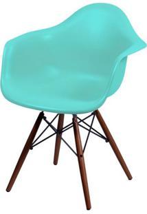 Cadeira Eames Com Braco Base Escura Verde Tifanny Fosco - 44885 - Sun House