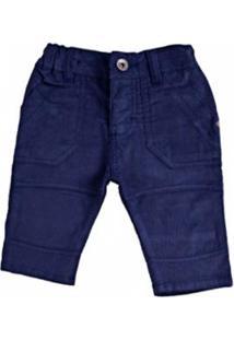 Calça Infantil Zig Mundi Cotelê Masculino - Masculino-Marinho