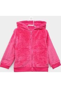 Jaqueta Infantil Rovitex Capuz Orelhinha Pelo Feminina - Feminino-Pink