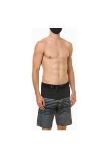 Bermuda Dágua Estampa Stripes Calvin Klein Preto