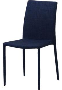 Cadeira Indonesia Estofada Tecido Sintetico Azul - 30743 - Sun House