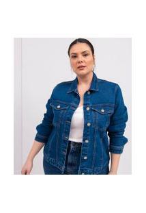 Jaqueta Jeans Confort Curve & Plus Size | Ashua Curve E Plus Size | Azul | Gg