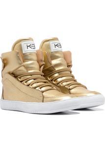 Sneaker K3 Fitness Confort Dourado - Kanui