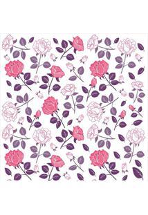 Papel De Parede Floral- Rosa & Roxo- 300X0,58Cm-Jmi Decor