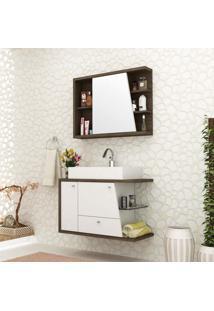 Conjunto Para Banheiro Viena Ii Ameixa Negra E Branco