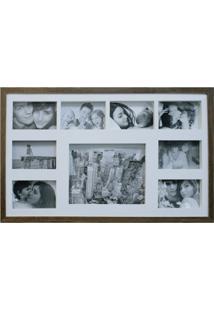 Painel De Fotos Bee Collection 43X68 Rustics 8 Fotos 10X15 E 1 Foto 20X25 Imbuia Kapos