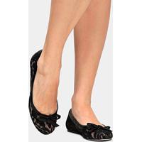 7ccf848d1 Sapatilha Shoestock Renda - Feminino-Preto