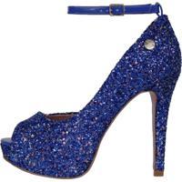 c45923ea2 Peep Toe Balada Glitter feminino   Shoes4you