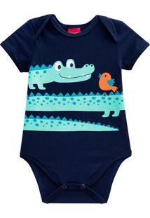 Body Bebê Azul Marinho Kyly