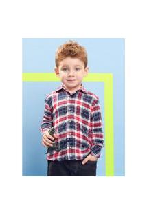 Camisa Infantil Xadrez Vermelho Youccie