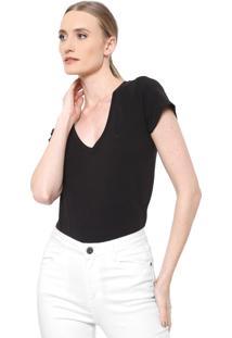 Camiseta Dudalina Lisa Preta