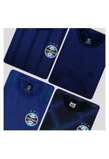 Kit De 4 Camisas Grêmio Azul