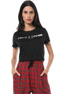 Camiseta Cropped Cavalera Dream Preta