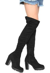 d490251d8f Bota Over Knee Casual Preto feminino | Shoes4you