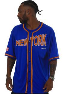 Camisa De Baseball Prison Orange New York Azul