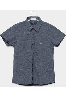 Camisa Infantil Yachtmaster Malha Tricoline Estampada - Masculino-Marinho