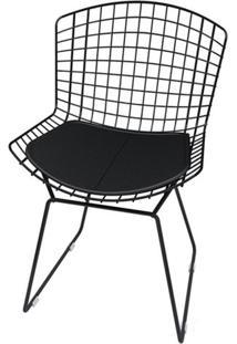 Cadeira Bertoia Pintada Preto Assento Preto - 18850 - Sun House