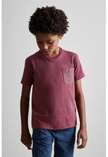 Camiseta Masculina Infantil Mini Pf Pipa Ii Reserva Mini - Masculino-Bordô
