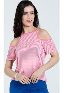 Blusa Feminina Open Shoulder Listrada Marisa