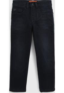 Calça Jeans Ellus Kids Infantil Estonada Azul-Marinho
