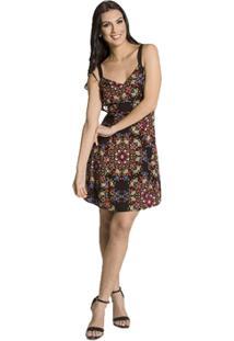 Vestido Viscose Floral Handbook - Feminino