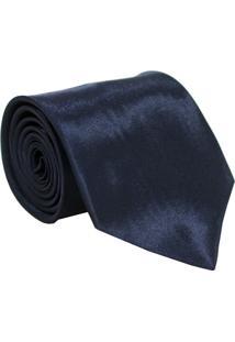 Gravata De Seda Lisa Unyforme Azul Marinho