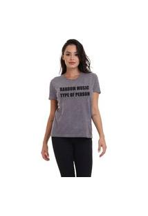 Camiseta Jay Jay Basica Random Music Chumbo Dtg