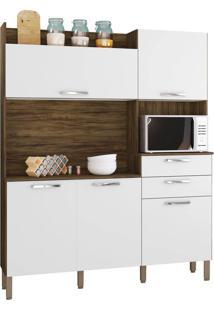 Cozinha Ravena Savana/White 5 Portas 2 Gavetas - Kits Paraná