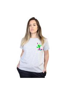 Camiseta Boutique Judith Drunk Cactus Cinza