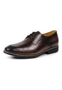 Sapato Linha Premium Derby Sandro Moscoloni 16177 Marrom Escuro