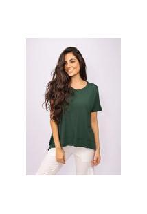 T-Shirt Amazonia Vital Malha Basic Verde Musgo