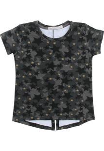 Camiseta Calvin Klein Kids Estrelas Preta