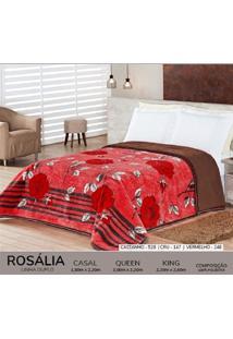 Cobertor Queen Dupla Face Duplo - Rosalia