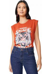 Camiseta Amaro Pyscho Savage Feminina - Feminino