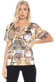 Camiseta Carmim Forever Print Off-White/Amarela