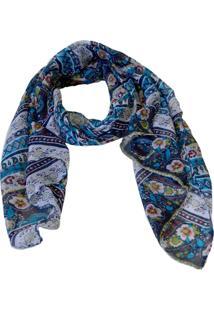 Echarpe Mozzi Paisley Azul