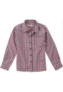 Camisa Vermelha Xadrez Tricoline