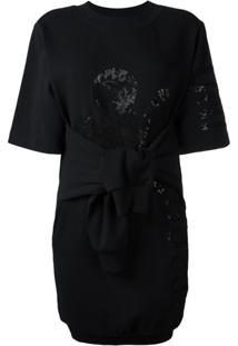 Moschino Vestido Com Detalhe De Nó - Preto