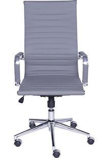 Cadeira Office Eames Esteirinha- Cinza & Prateada- 1Or Design