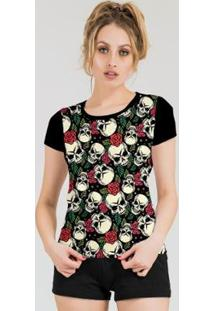 Camiseta Stompy Feminina Estampada 21 - Feminino-Preto