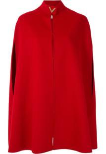 Valentino Capa De Lã - Vermelho