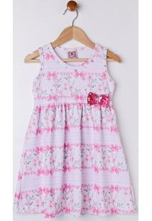 Vestido Infantil Para Menina - Rosa