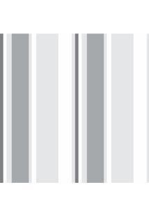 Papel De Parede Adesivo Listrado Bege E Branco (0,58M X 2,50M)