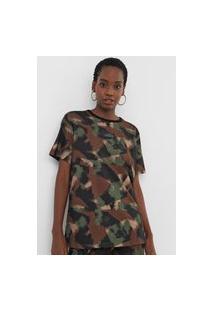 Camiseta Triton Camuflada Verde/Marrom