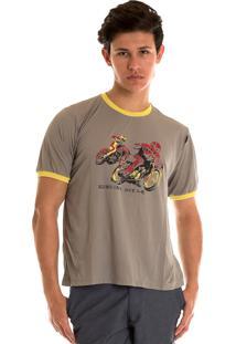 Camisa Konciny Decote Redondo Cinza.